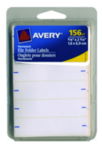 "Avery® White Permanent Filing Labels - 5/8"" x 2-3/4"""