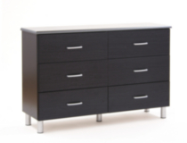 South Shore Cosmos Collection Dresser, Black onyx and charcoal
