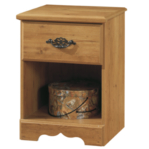 South Shore Prairie Collection Night Stand, Country Pine Finish