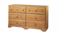 South Shore Little Treasures 6-Drawer Double Dresser Pine