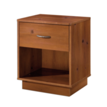 South Shore Logik 1-Drawer Night Stand Pine Pine