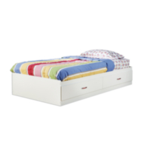 South Shore Logik Twin Mates Bed (39'') with 2 Drawers White