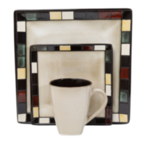 hometrends Mosaic Tile 16 Piece Dinnerware Set