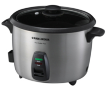 Black & Decker 20 Cup Stainless Steel Rice Cooker