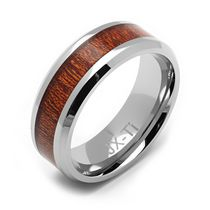 Rex Rings Titanium Ring with Wood Inlay 8.5