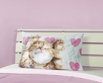 Mainstays Kids Photo Real Cat & Heart Printed Pillowcase