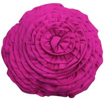 Mainstays Kids Pink Ruffled Flower Decor Pillow