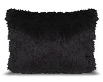 Mainstays Kids Shag Fur Black Decor Pillow