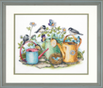 Dimensions Needlecraft Stamped Crossstitch Watering Cans