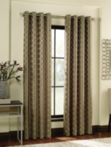 Jacquard Circle Window Panel Brown