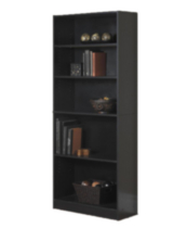 Mainstays 5 Shelf Bookcase Black