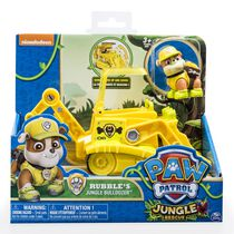 Paw Patrol Jungle Rescue Rubble's Jungle Bulldozer Toy Vehicle