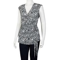 George Women's Sleeveless Wrap Top Black XXL