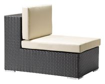 Zuo Modern Outdoor 1-Piece Synthetic Weave Espresso & Beige Cartagena Middle Chair