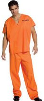 Jailhouse Uniform Adult Costume
