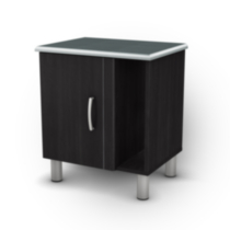 South Shore Cosmos Collection Night Stand - Black Onyx/Charcoal