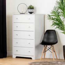 South Shore Vito Collection 5-Drawer Chest White