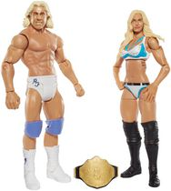 WWE – Coffret de 2 figurines – Charlotte et Ric Flair