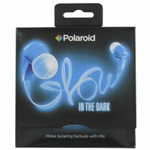 Polaroid-Glow Earbud Headphones Black