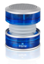 iHome Crystal rechargeable Mini Speaker - Blue