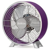 Sunbeam Designer Series Retro 9 Inch Table Fan Purple