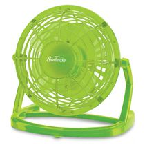 "Sunbeam 4"" USB Personal Fan Deep Mint"