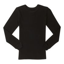 Athletic Works Boys' Thermal Shirt Black 7/8