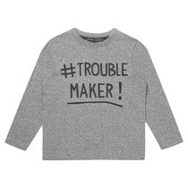 George British Design Toddler Boys' Trouble Maker Long Sleeve T Shirt 2T