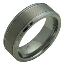 FLAT TUNGSTEN RING 10
