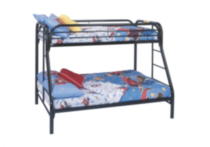 Monarch, Dilan, Twin Over Full Bunk Bed, Black