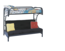 Monarch, Bruce, Twin Over Futon Bunk Bed, Black