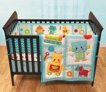 Baby's First by Nemcor Peek-A-Bot 3 Piece Crib Set