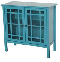 hometrends Tempered Glass Door Accent Cabinet