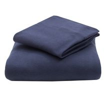 Mainstays Jersey-Knit Cotton Sheet Set Navy Queen