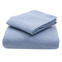 Mainstays Jersey-Knit Cotton Sheet Set Blue Queen