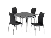 Brassex Fabian Black 5-piece Dining Set