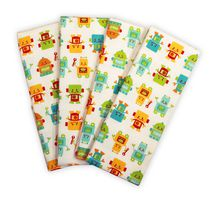 Baby's First by Nemcor Peek-A-Bot 4 Pack Receiving Blankets