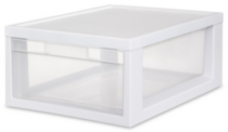 Sterilite Medium Modular Drawer (White)