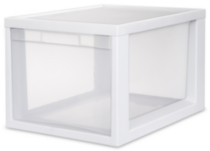 Sterilite Medium Tall Modular Drawer (White)