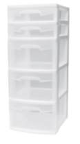 Sterilite 5 Drawer Tower (White)