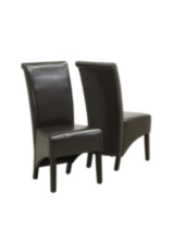 Monarch Specialities Avalon Faux-Leather Dark Brown Parson Chair