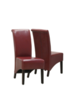 Monarch Specialities Avalon Faux-Leather Red Parson Chairs
