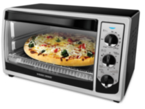 Black & Decker 4 Slice Black Convection Toaster Oven