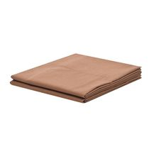 Mainstays Easy Care Pillowcase Set Brown King