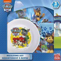 Zak Designs Paw Patrol 3-Piece Kids Dinnerware Set for Boys'