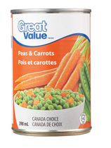 Pois et carottes de Great Value