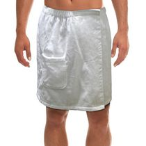 Radiant Saunas Men's White Spa & Bath Terry Cloth Towel Wrap