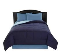 Reversible Microfibre Comforter Navy Double/Queen