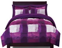 Bed-in-a-Bag Microfibre Bedding Set - Purple Twin