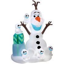Auto,gonflable Scène avec Olaf et Snowgies dAirblown
